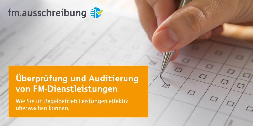Auditierung und Überprüfung von FM-Dienstleistungen